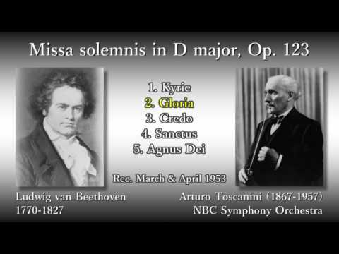 Beethoven: Missa solemnis, Toscanini & NBCso (1953) ベートーヴェン ミサ・ソレムニス トスカニーニ