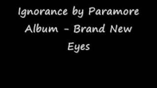 Paramore - Ignorance (with Lyrics)