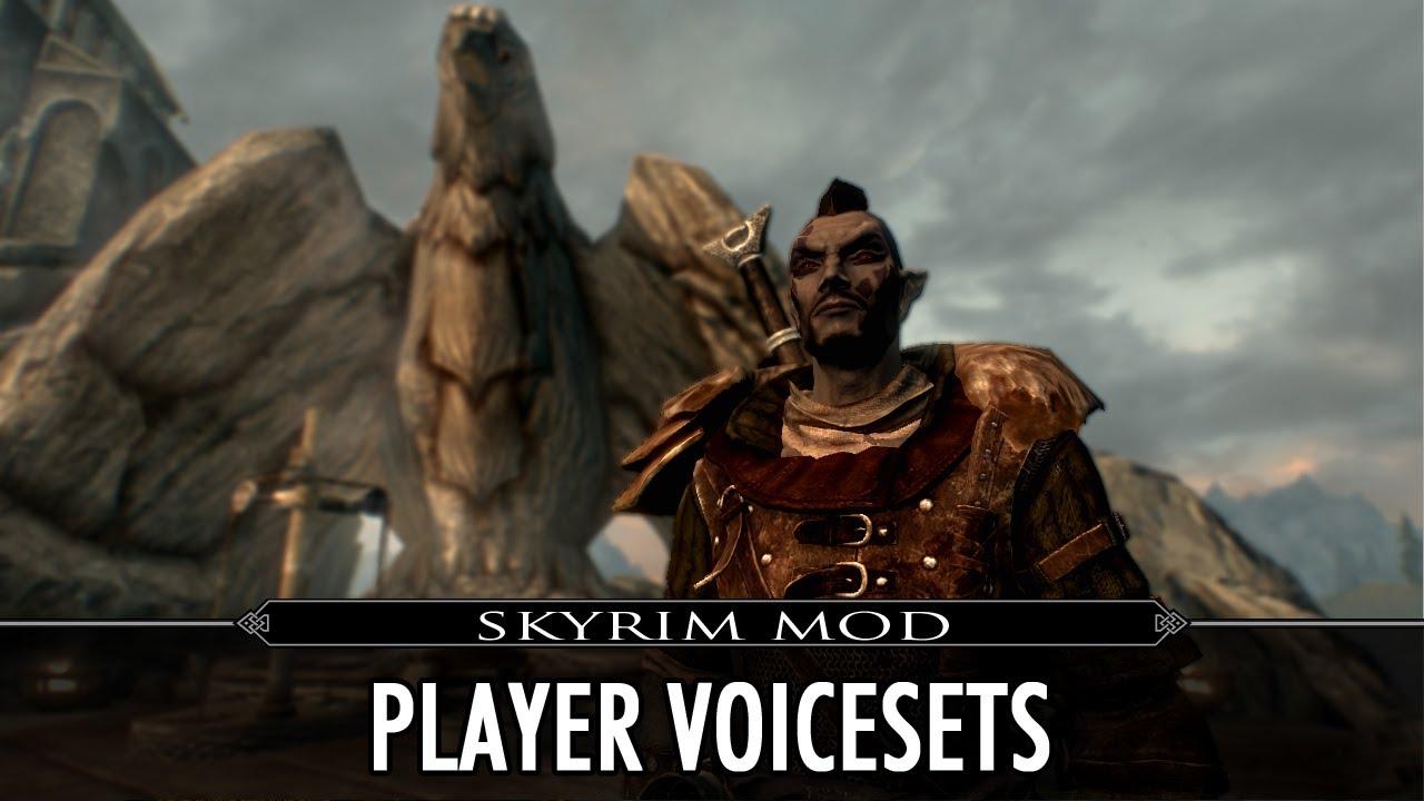 skyrim se player voice