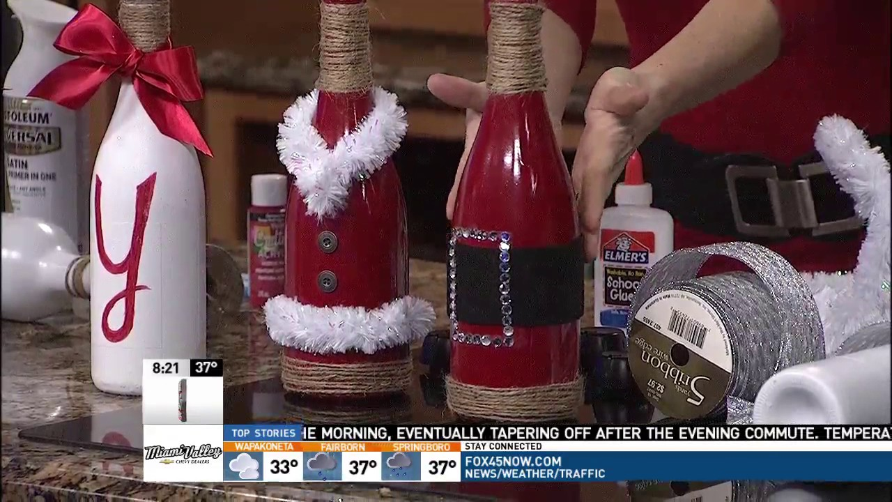 Use those empty wine bottles to decorate