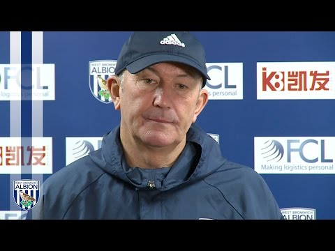 Tony Pulis addresses the media ahead of Arsenal clash