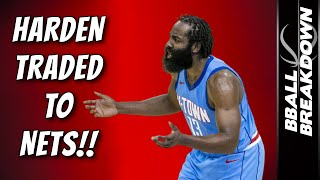 JAMES HARDEN TRADED TO NETS Live Show
