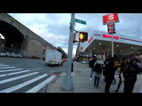 ⁴ᴷ⁶⁰ Walking in NYC from Long Island City to Elmhurst, Queens via Queens Boulevard