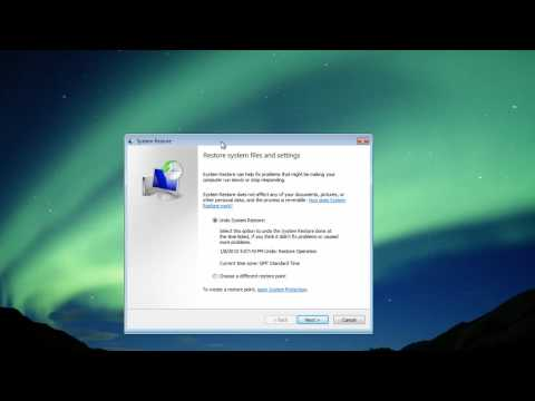 How To Use Windows Vista System Restore