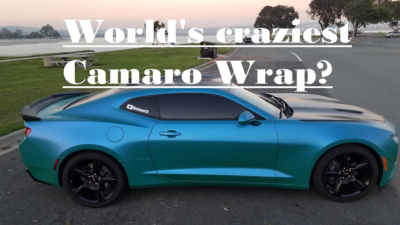 Crazy Camaro Wrap Colorshift Youtube