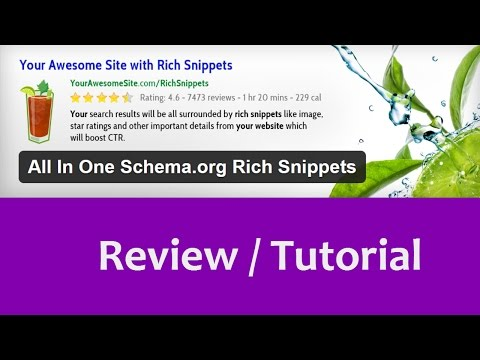 All In One Schema.org Rich Snippets Review / Tutorial
