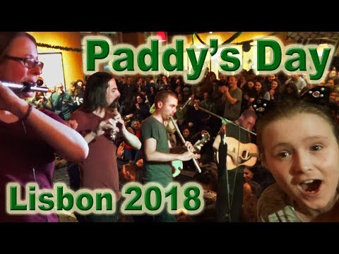 Live Irish Music & Dance, Lisbon, Portugal, Paddy's Day 2018, with Imo and Izzy. 🇵🇹🎼☘