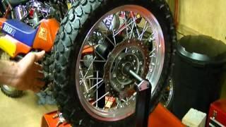 Motorcycle Repair: How to Static Balance a Motorcycle Tire Wheel on a 2009 Kawasaki KLR 650