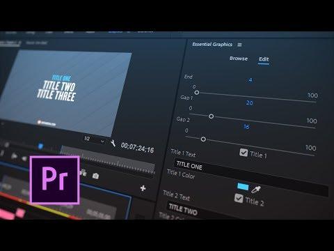 adobe premiere pro essential graphics missing