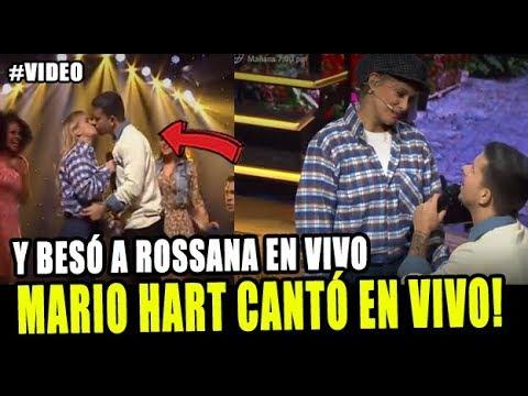 MARIO HART CANTÓ EN VIVO Y LE DIÓ UN BES0 A ROSSANA EN EL ARTISTA DEL AÑO