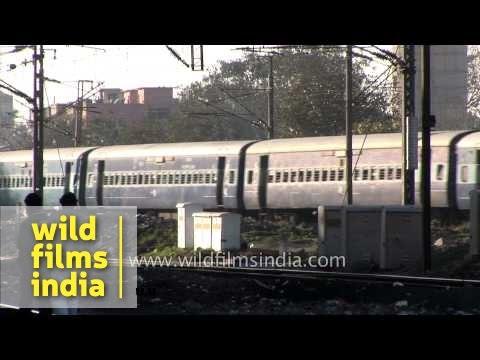 Train arrives at Sarai Rohilla Railway Station, Delhi