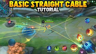 STRAIGHT CABLE BASIC TUTORIAL FANNY #shorts