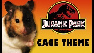 🎬JURASSIC PARK Hamster Cage Theme🐹 Fan Edition💖 Hamster Cage Tour