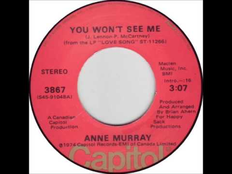 ANNE MURRAY * You Won't See Me   1974  HQ Mp3