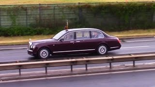 Queen Elizabeth II. Arriving In Germany, Berlin  │ With Fighter Escort And Gun Salute