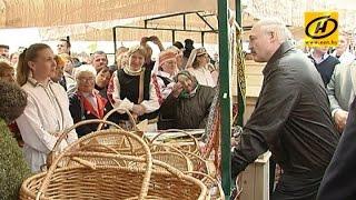 Александр Лукашенко посетил Славгородский район Могилёвской области