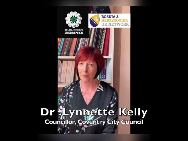 Poruka Dr Lynnettee Kelly  povodom 25.godišnjice genocida u Srebrenici