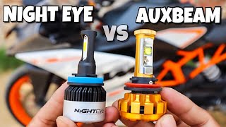 Night Eye Light vs Auxbeam Light Which is Actual Best led Must Watch