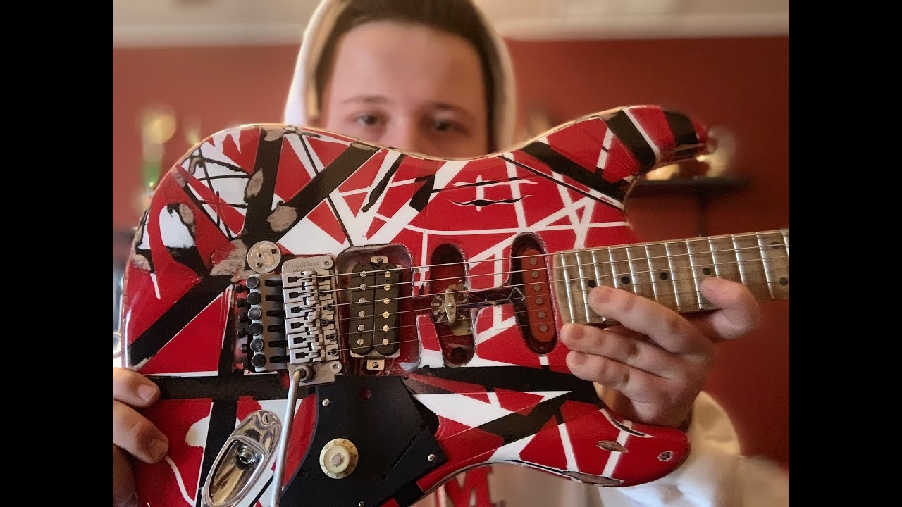 Building the Eddie Van Halen Frankenstrat Guitar for Under $500 - YouTube