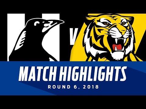 Collingwood v Richmond Highlights - Round 6 2018 - AFL