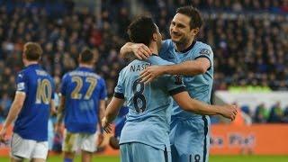 Leicester City 0 X 1 Manchester City - Melhores Momentos - Campeonato Inglês - 13/12/2014