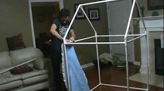 Como hacer una casita para ni a con tubos de pbc youtube - Casita con tobogan para ninos ...