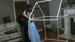A quick, inexpensive and easy way to build a sturdy indoor playhouse.