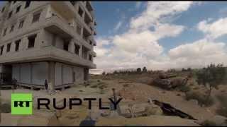 Syria: Go-Pro Syrian tank mount as they roll on to control Darayya
