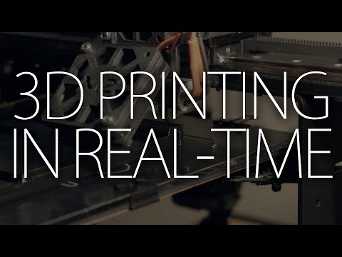 3D Printing with the MakerGear M2 (real-time)