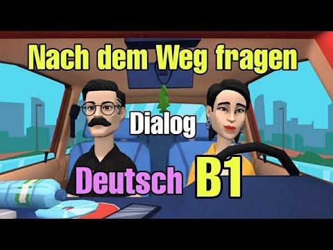 Deutsch lernen - Dialog Nach dem Weg Fragen - Deutsch B1💯👌💢