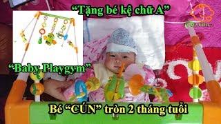 Đồ chơi kệ chữ A mua tặng bé  khi bé tròn 2 tháng tuổi   Buy baby playgym to BECUN