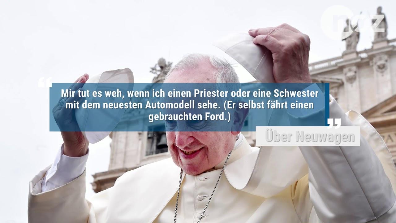 Papst Franziskus Ist Fünf Jahre Im Amt Zehn Zitate Seiner Bisherigen Amtszeit