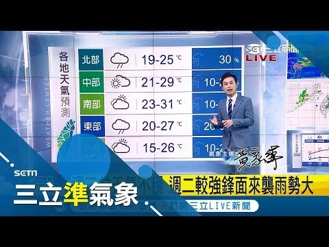 今入夜變天!周一起北台變濕冷 周三白天鋒面遠離天氣好轉降雨緩|氣象主播黃家緯|【三立準氣象】20190414|三立新聞台