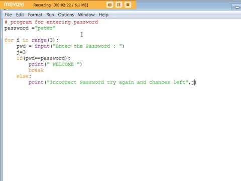 Simple Program to Enter Password in Python