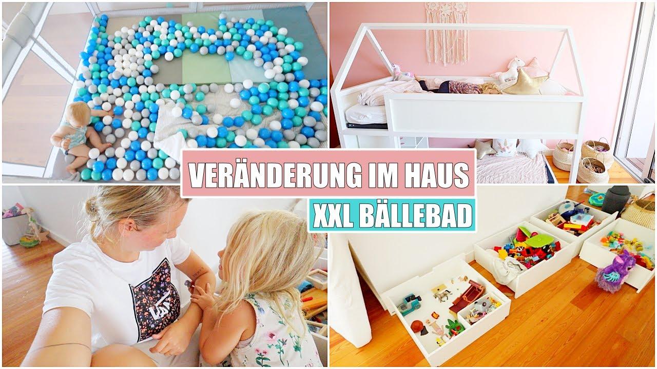 Paulines Hochbett einrichten 💕 XXL Bällebad & Spielzeug Chaos   Isabeau