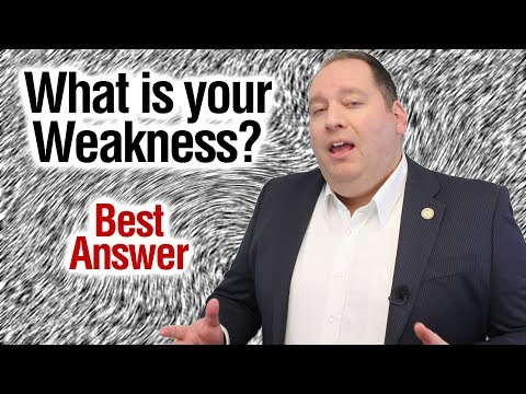 What Is Your Weakness? | Best Answer (from Former CEO)