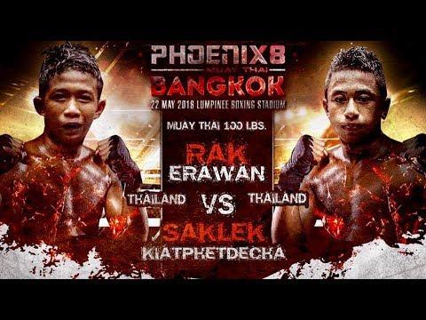 Rack Erawan vs Saklek Kiatphetdecha - Full fight (Muay Thai) - Phoenix 8 Bangkok