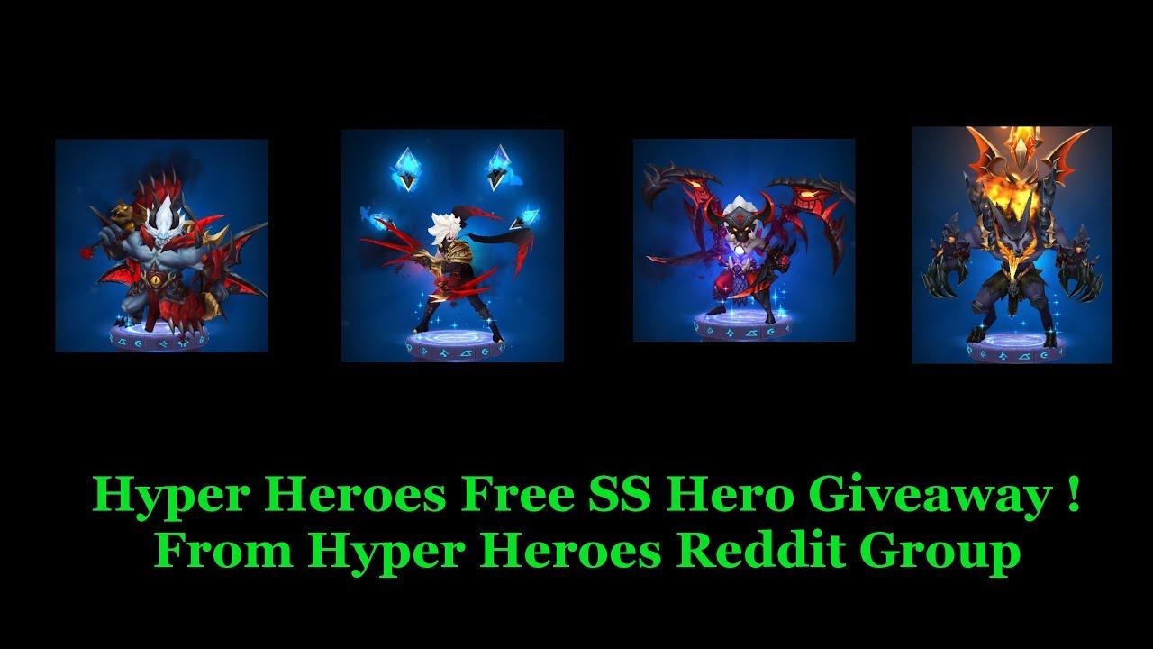 Hyper Heroes Free SS Hero Giveaway ! ( Reddit )