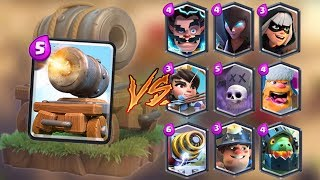 Cannon Cart vs All Cards in Clash Royale   Cannon Cart Gameplay