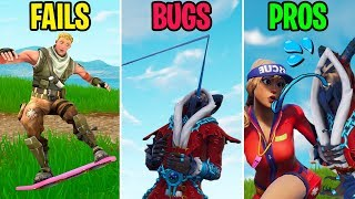 Krampus LICKS Her FACE! FAILS vs BUGS vs PROS! Fortnite Funny Moments