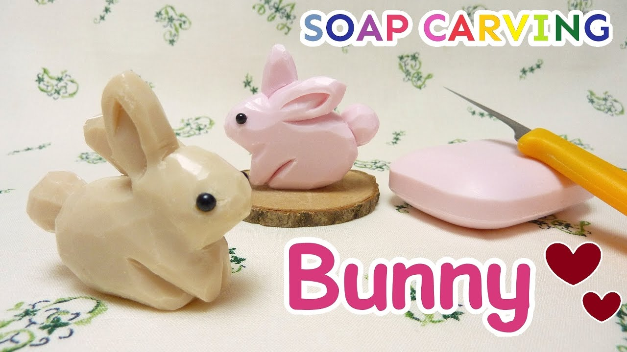 Soap carving bunny conejito easy diy real sound