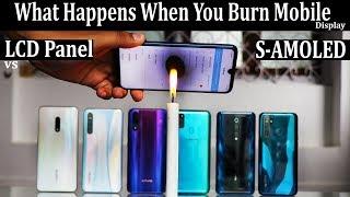 [Burning  Mobile] - LCD vs SAMOLED #what happens when you burn mobile