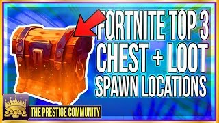 BEST 3 LOOT CHEST LOCATIONS! *Unlimited Materials/Supplies* - Fortnite Battle Royale Tips & Tricks