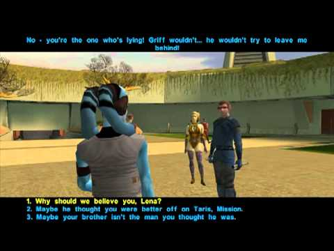 Star Wars Knights of the Old Republic walkthrough Part 63 Location of Mission's 'lost' brother