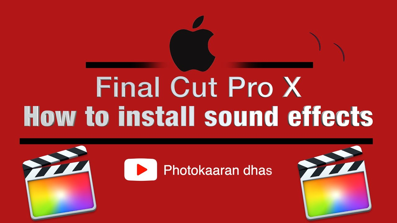 Download Tamil Tutorials - How to install Sound Effects in Final Cut Pro X ||