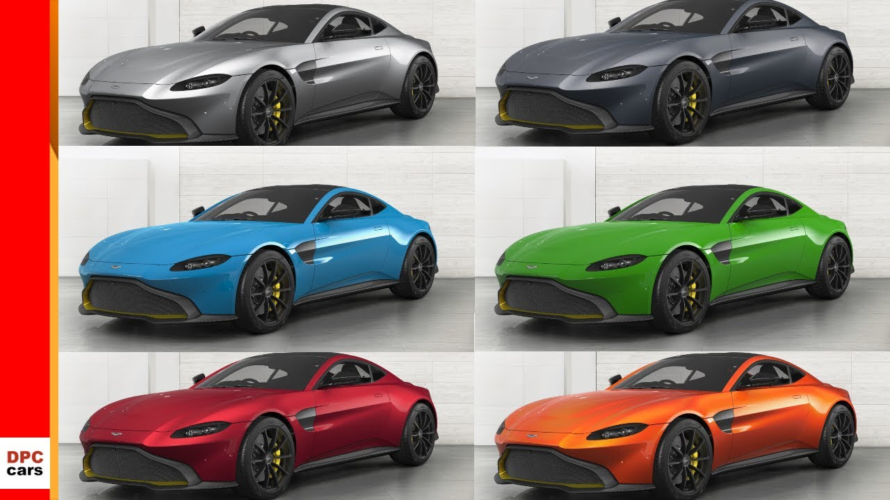 2018 Aston Martin Vantage Colors Youtube