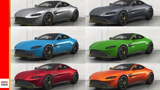 2018 Aston Martin Vantage Colors