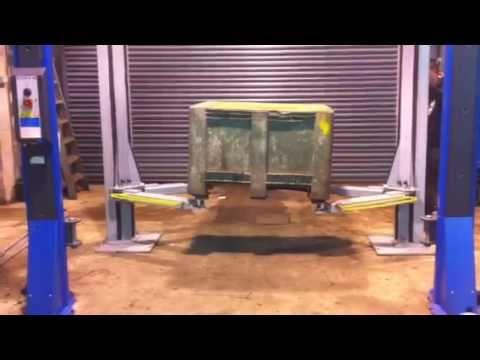 Zippo 1226 1 2 Post Lift Ramp Test Youtube