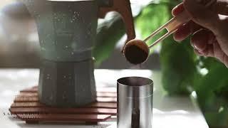 قهوتي أصنعها بحُب في ابريق الإسبريسو moka pot - espresso maker