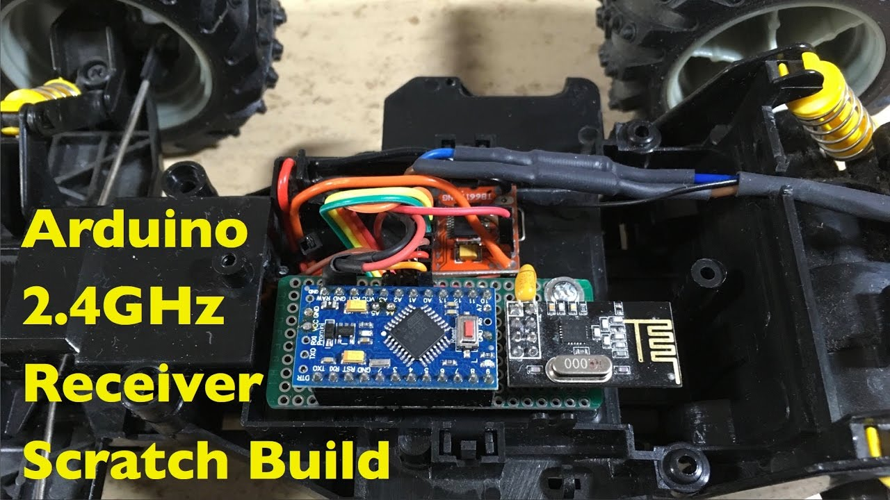 Arduino 2 4GHz RC Receiver Scratch Build How To